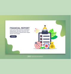 landing page template financial report modern vector image