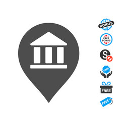 Library map marker icon with free bonus vector