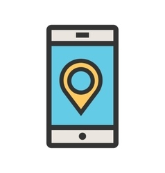 Locate on Mobile vector