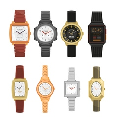Man And Woman Wrist Watches Set vector