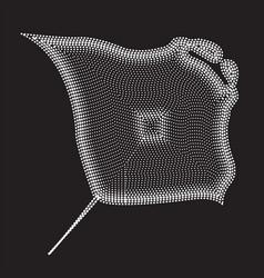 Manta ray abstract geometric circle dot pixel vector