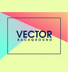 modern colorful geometrical background vector image