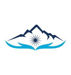 Mountain savage care vector