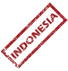 New Indonesia rubber stamp vector