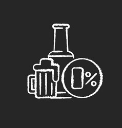 non alcoholic beer chalk white icon on black vector image