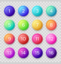 Number bullets circle buttons with color vector