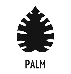 palm leaf icon simple black style vector image