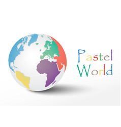 pastel world vector image