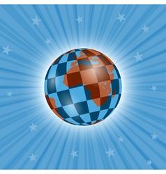 Planetary chessboard vector