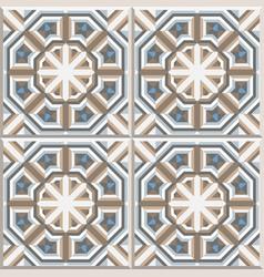Portuguese floor tiles design seamless pattern vector