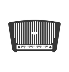 Radio technology retro vintage icon vector