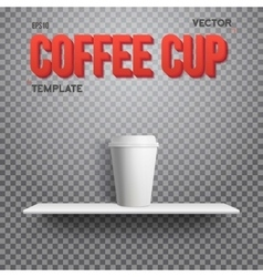 Realistic Coffee Cup Takeout Template vector