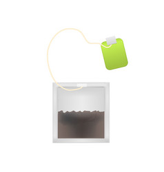 realistic detailed 3d tea bag set vector image