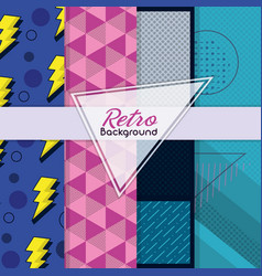 retro memphis background vector image