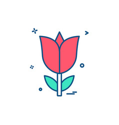 rose flower love icon design vector image
