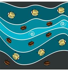Sea bugs vector