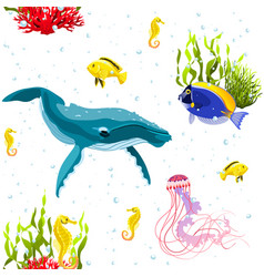 sea life pattern vector image