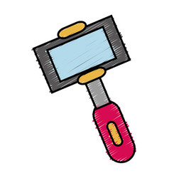 selfie stick icon vector image