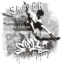 skater no limit vector image