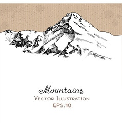 Snow Peak vector image