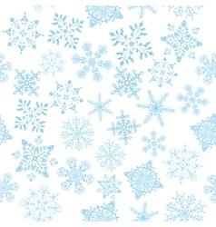 Snowflakes Seamless Wallpaper vector image