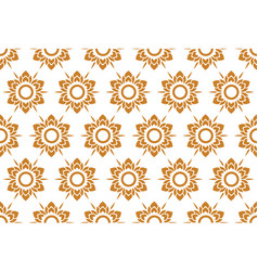 Thai pattern floral seamless on white background vector