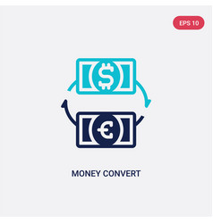 Two color money convert icon from business vector