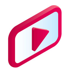 video play icon isometric style vector image