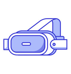 vr helmet glasses headset vector image