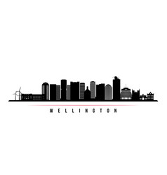 wellington skyline horizontal banner vector image