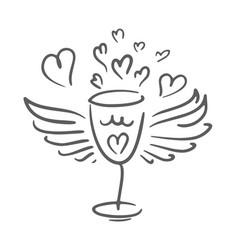 wine logo design template wineglass icon vector image