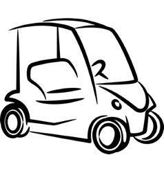with a golf-car vector image