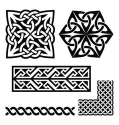Celtic Irish and Scottish patterns - knots braids vector image vector image