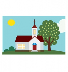 church background vector image vector image