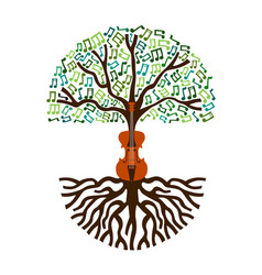 classical music tree nature concept vector image