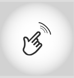 icon click hand isolated vector image