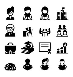 learning education icon vector image vector image