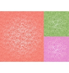 seamless roses pattern set wallpaper vector image