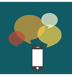 smartphone bubble quote vector image vector image