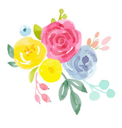 watercolor abstract floral composition vector image vector image
