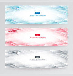 banner web template abstract modern blue vector image vector image