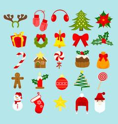 christmas new year holiday vector image vector image