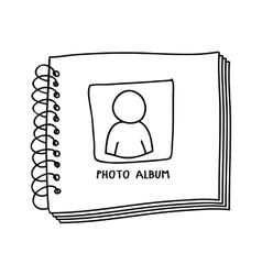 contour monochrome with photo album vector image