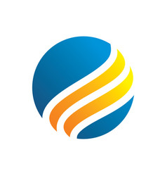 circle swirl business logo image vector image vector image