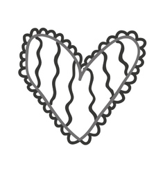 heart monochrome love icon vector image