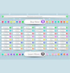 large set of buttons for the site vector image