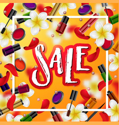 make up accessories beauty store sale vector image