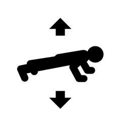 push ups icon vector image
