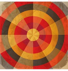 Vintage paper target vector image