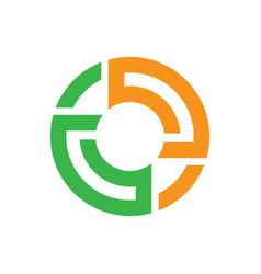 abstract circle logo image vector image